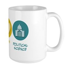 Peace Love Political Science Mug