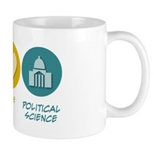 Peace Love Political Science Mug