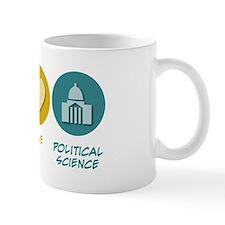 Peace Love Political Science Small Mug