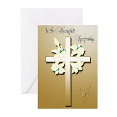 OES Sympathy Greeting Cards (Pk of 10)