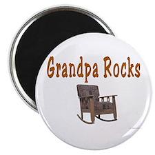 Grandpa Rocks Magnet