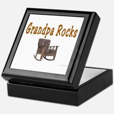 Grandpa Rocks Keepsake Box