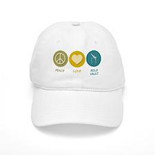 Peace Love Pole Vault Baseball Cap