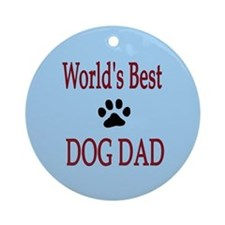World's Best Dog Dad Ornament (Round)