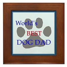 World's Best Dog Dad Framed Tile