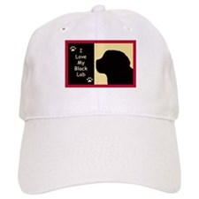 I Love My Black Lab Baseball Cap
