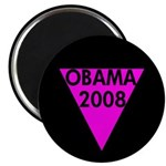 Pink Triangle Obama 2008 Magnet