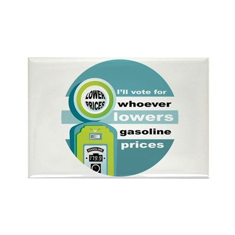 Vote for Lower Gas Prices Rectangle Magnet