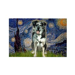 Starry / Catahoula Leopard Dog Rectangle Magnet