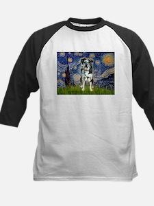 Starry / Catahoula Leopard Dog Kids Baseball Jerse