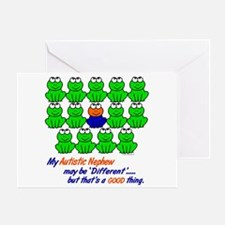 Different FROGS 1 (Nephew) Greeting Card