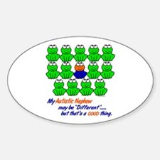 Different FROGS 1 (Nephew) Oval Decal