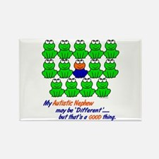 Different FROGS 1 (Nephew) Rectangle Magnet