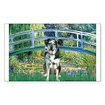 Bridge / Catahoula Leopard Dog Sticker (Rectangle)