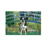 Bridge / Catahoula Leopard Dog Rectangle Magnet