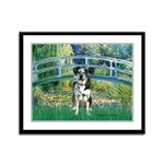 Bridge / Catahoula Leopard Dog Framed Panel Print