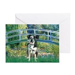 Bridge / Catahoula Leopard Dog Greeting Card