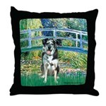 Bridge / Catahoula Leopard Dog Throw Pillow