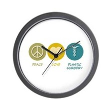 Peace Love Plastic Surgery Wall Clock