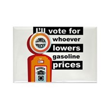 Lower Gas Prices Get My Vote Rectangle Magnet