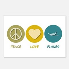 Peace Love Planes Postcards (Package of 8)