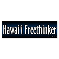 Hawaii Freethinker Bumper Bumper Sticker