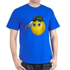 Saluting Soldier Face T-Shirt