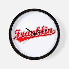 Retro Franklin (Red) Wall Clock