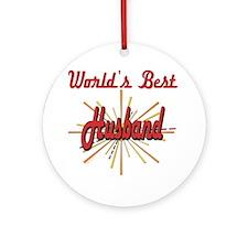 Starburst Husband Ornament (Round)