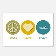 Peace Love Pilot Postcards (Package of 8)
