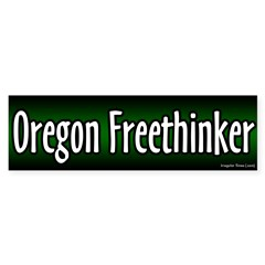Oregon Freethinker Bumper Bumper Sticker
