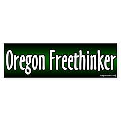 Oregon Freethinker Bumper Bumper Sticker