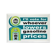 Hillary Will Lower Gas Prices Rectangle Magnet