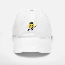 Smiling Soldier and Gun Baseball Baseball Cap