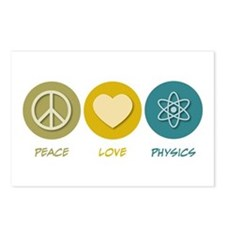 Peace Love Physics Postcards (Package of 8)