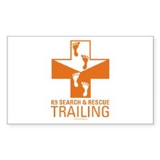 K9 Crosses - Trailing Rectangle Decal