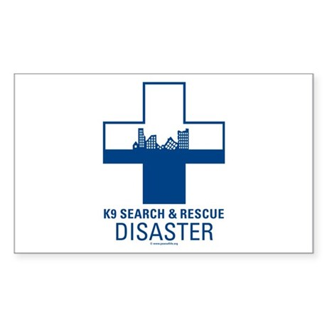 K9 Crosses - Disaster Search Rectangle Sticker