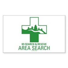 K9 Crosses - Area Search Rectangle Decal