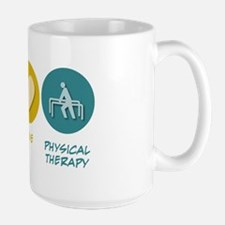 Peace Love Physical Therapy Large Mug