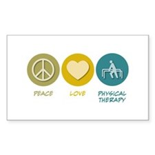 Peace Love Physical Therapy Rectangle Decal