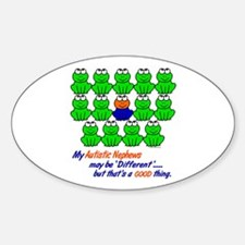 Different FROGS 1 (Nephews) Oval Decal