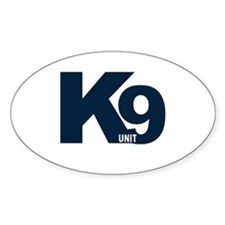 Navy K9 Unit Oval Decal