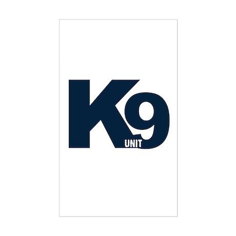 Navy K9 Unit Rectangle Sticker