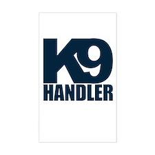 Navy K9 Handler Rectangle Decal