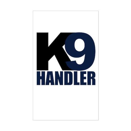Two Tone K9 handler Rectangle Sticker