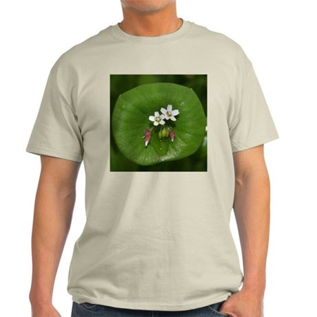 Miner's Lettuce Flowers Light T-Shirt