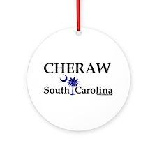 Cheraw South Carolina Ornament (Round)