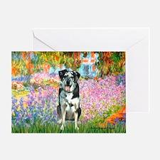 Garden / Catahoula Leopard Dog Greeting Card