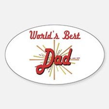 Starburst Dad Oval Decal
