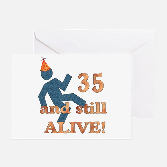 35 And Still Alive Greeting Card